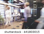 crowded conference room on the...   Shutterstock . vector #641803015