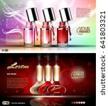 digital vector transparent nail ... | Shutterstock .eps vector #641803321
