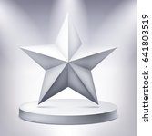 five pointed star on the... | Shutterstock .eps vector #641803519