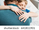 portrait of smiling little son... | Shutterstock . vector #641811901