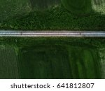 aerial view of railway track... | Shutterstock . vector #641812807