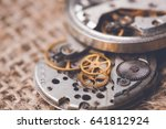 clockwork old mechanical ussr... | Shutterstock . vector #641812924