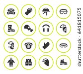 set round icons of personal... | Shutterstock . vector #641815075