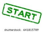 grunge green start square... | Shutterstock .eps vector #641815789
