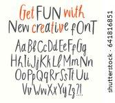 hand drawn creative cutout... | Shutterstock .eps vector #641816851