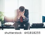 desperate businessman in the... | Shutterstock . vector #641818255