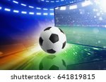 abstract sports 3d illustration ... | Shutterstock . vector #641819815