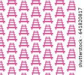 pattern background railway... | Shutterstock .eps vector #641820817