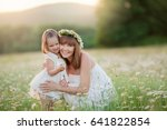 time for girls  mom and... | Shutterstock . vector #641822854