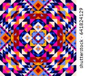 ethnic geometric pattern ... | Shutterstock .eps vector #641824129