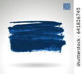 brush stroke and texture.... | Shutterstock .eps vector #641826745