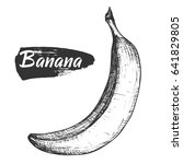 sketch ink vintage banana... | Shutterstock .eps vector #641829805