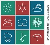 Weather Icons Set. Set Of 9...