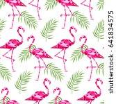 tropical trendy seamless... | Shutterstock .eps vector #641834575
