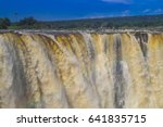 victoria waterfall in zimbabwe... | Shutterstock . vector #641835715