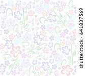 Seamless Floral Pattern Gentle...