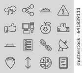 internet icons set. set of 16... | Shutterstock .eps vector #641839111