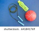 the set of fitness ball bottle... | Shutterstock . vector #641841769