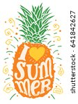 i love summer. hand drawing... | Shutterstock .eps vector #641842627
