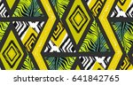 hand drawn vector abstract... | Shutterstock .eps vector #641842765
