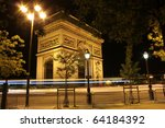 beautiful night view of the arc ... | Shutterstock . vector #64184392