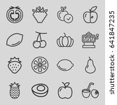 fruit icons set. set of 16... | Shutterstock .eps vector #641847235