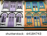 Closed Colorful Window Shutter...