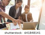 young university students... | Shutterstock . vector #641848141