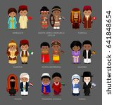 people in national dress.... | Shutterstock .eps vector #641848654