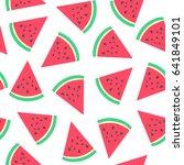 watermelon  pattern. vector... | Shutterstock .eps vector #641849101