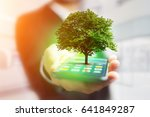 view of a green tree going out... | Shutterstock . vector #641849287