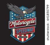 vintage motorcycle eagles...   Shutterstock .eps vector #641850799