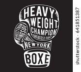 glove boxing  sport  typography ... | Shutterstock .eps vector #641851387
