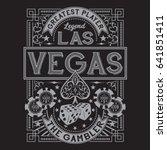 vintage gamble casino las vegas ... | Shutterstock .eps vector #641851411