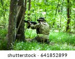 Small photo of airsoft fighter