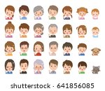 people pose | Shutterstock .eps vector #641856085