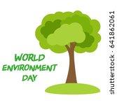 world environment day concept....   Shutterstock .eps vector #641862061