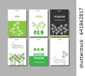 green business card set. vector ... | Shutterstock .eps vector #641862817