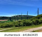 fabulous bridge and landscape... | Shutterstock . vector #641863435