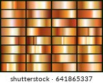set of realistic copper foil.... | Shutterstock .eps vector #641865337