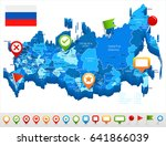 russia map and flag   highly... | Shutterstock .eps vector #641866039