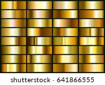 set of realistic gold foil.... | Shutterstock .eps vector #641866555