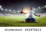 he is the champ . mixed media | Shutterstock . vector #641870611