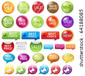 collection of selling badges ... | Shutterstock .eps vector #64188085