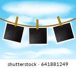 set of blank photo frames...