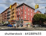 Small photo of Williamsburg, Brooklyn, United States - September 3, 2016: People are walking along Bedford Avenue in Williamsburg, Brooklyn on a beautiful Weekend afternoon.