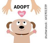 adopt me. dog face. pet...   Shutterstock .eps vector #641901559