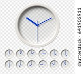 realistic wall clocks set.... | Shutterstock .eps vector #641903911