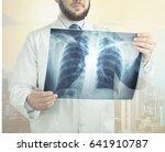 doctor look x ray. | Shutterstock . vector #641910787