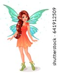 cute little fairy with... | Shutterstock .eps vector #641912509